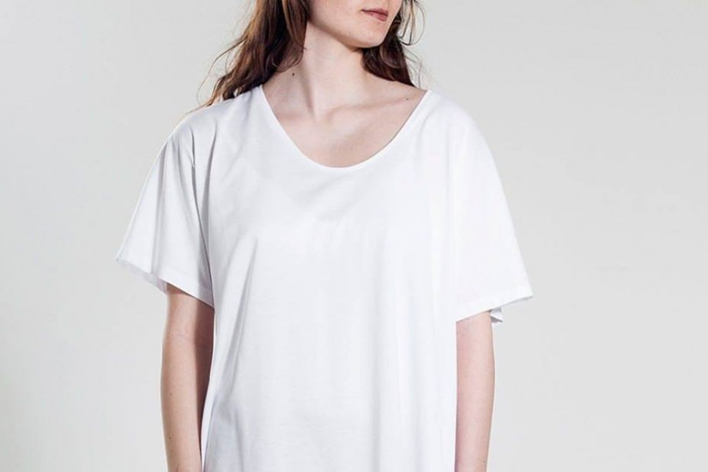 oversize cotton top made  in italiy, sustainable fashion