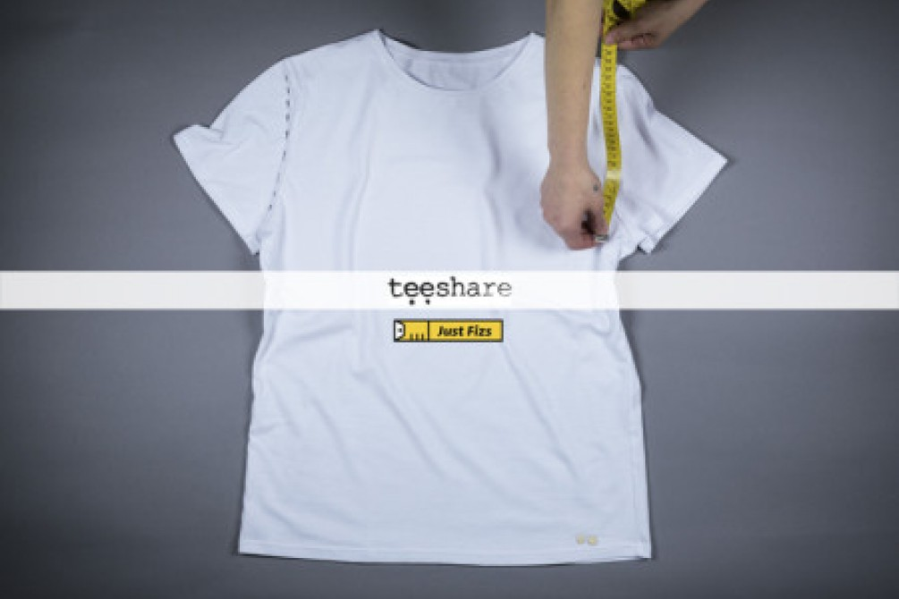 measurement t-shirt with a yellow tape