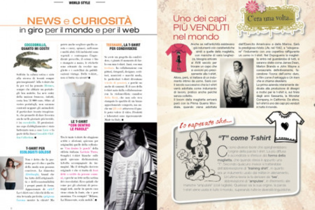 Articolo teeshare apparso su rivista Minnie Glamour Collection