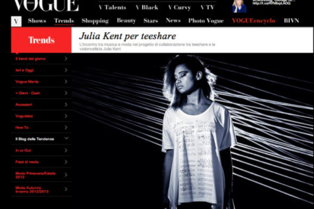 Article teeshare on Vogue Italy