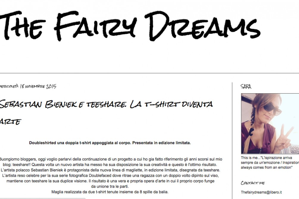 screenshot the fairy dreams blog