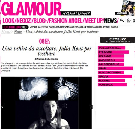 Glamour online scrive di teeshare