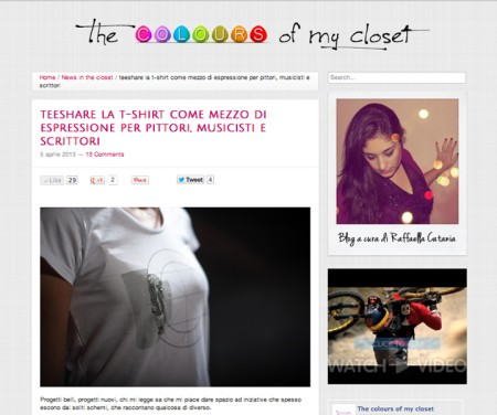 home page del blog the colour of my closet